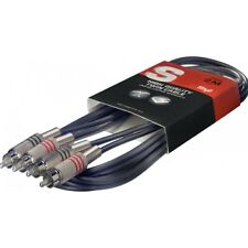 Stagg STC6C S Series Twin RCA/m - Twin RCA/m Cable - 6m