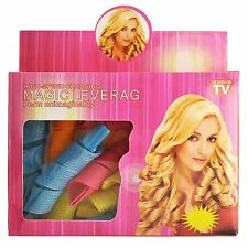 NEW Magic Leverag Hair Rollers Curlers 18 pcs