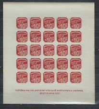 CZECHOSLOVAKIA SCOTT # P26 NEWSPAPER STAMP FULL SHEET MNH