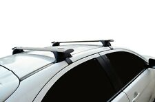 Aero Roof Rack Cross Bar for Mitsubishi Lancer 2007-17 Black 120cm Flexible
