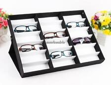 Display Case Grid Stand Holder for 18 Eyeglass Sunglasses Compartment US