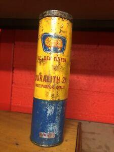 Golden Fleece Duo Duralith 2A Vintage 1 Lb Grease Cardboard Tube
