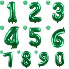 "32"" Giant Green Numbers Foil Balloon Wedding Celebration Birthday Party Decor"