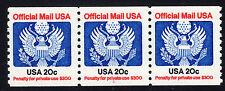 Sc# O-135 20 Cent Offical (1985) MNH PNC/3 P# 1 SCV $12.00