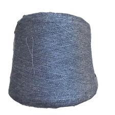 Italian Baby Alpaca Silk  Blend Cone Yarn Loom 0 Weight 2 lb 910 grams Grey