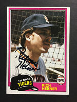 Rich Hebner Tigers Signed 1981 Topps Baseball Card #217 Auto Autograph
