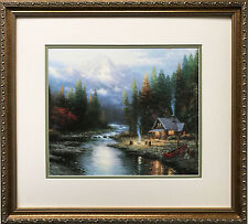 "Thomas Kinkade ""The End of the Perfect Day"" Newly CUSTOM FRAMED Art Print LIGHT"