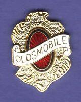 OLDSMOBILE SHIELD HAT PIN LAPEL PIN TIE TAC ENAMEL BADGE #1107 GOLD