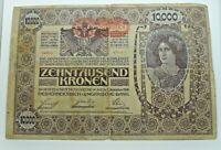 Km# 25 - 10000 kroner 1918  - TB+ - Billet Autriche - N7656
