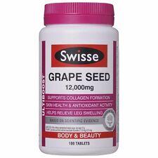 BEST PRICE! SWISSE ULTIBOOST GRAPE SEED 12,000MG 180 TABLETS DISCOUNT CHEMIST