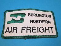 Vintage BURLINGTON NORTHERN AIR FREIGHT Railroad Patch Train Sleeve Sign Railway