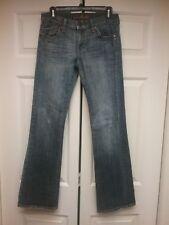 BU From Malibu Women's Jeans Size 28 Flare Distressed Low Rise Stretch