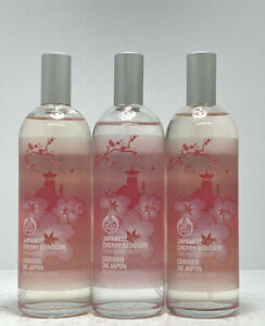 x3 The Body Shop Japanese Cherry Blossom Fragrance Mist Spray 3.3oz Lot of 3