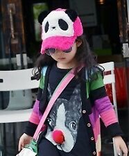Furry Panda Baseball Cap (Rose pink)