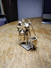 Vintage Chinese Silver Miniature Water Carrying Figurine