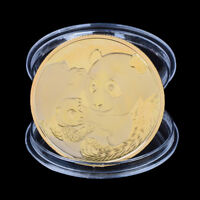 2019 China Panda Commemorative Coin Gold Plated Souvenir Coin Tourism Gifts#