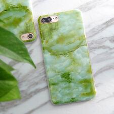 Cute Marble Stone Granite Rock Thin Soft Case Skin Cover TPU For iPhone X 6 7 8P