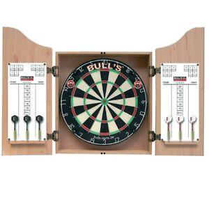 BULL'S Classic Dartstation Dartboard mit Kabinett inkl. 2 Sätzen Steel Darts