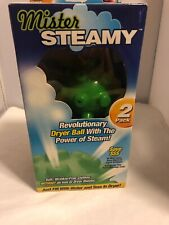 Dryer Balls with Steam Action 2-Pack New by Mister Steamy Cut Drying Time Save