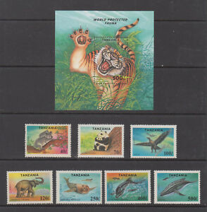 Tanzania Stamps 1994 Endangered Species Complete set MNH, SCV $12.50