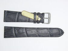 "DI-Modell Genuine Calf Leather Alligator Grain 22 mm GRAY Watch Band ""CARACAS"""
