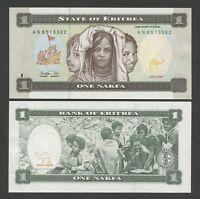 ERITREA  1 nakfa  1997  P1  Uncirculated  Banknotes