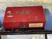 Vintage FMC John Bean probable alignment shim metal index box