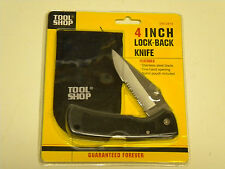 4 Inch LOCK-BACK KNIFE; Stainless steel blade; Pouch included, Brand NEW unused