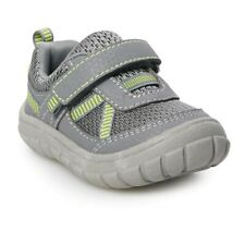 Jumping Beans Comet Sneakers SIZE 6 Toddler Boy Gray Lime NEW