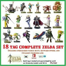 18 Card Zelda Full Set Amiibo NFC - Fierce Deity Majoras Mask 20 Heart Wolf Link