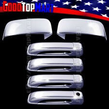 For Dodge RAM 1500 2009-2014 2015 2016 Chrome Covers Set Mirrors+4 Doors w/o PK