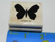 Stampin Up Rubber Stamp - Bold Butterfly Silhouette (Insect) Beautiful Elegant