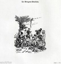 LO STREGONE DENTISTA. Caricatura. Odontoiatria. Dentiste. Dentist. Zahnarzt.1929