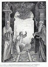 Antique print Cathedral Siena 1893 stampa antica Beccafumi stimmate di caterina