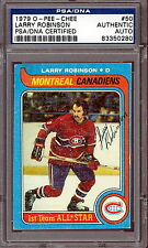 1979 OPC #50 LARRY ROBINSON PSA DNA CERTIFIED AUTOGRAPH AUTO MONTREAL CANADIENS