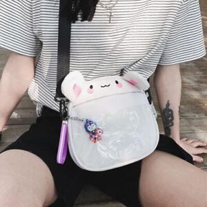 Women Cartoon Cute Handbag Wallte Canvas Crossbody Sling Shoulder Messenger Bag