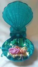 Mattel 2000 Magical Mermaid Barbie Baby Krissy Doll and Shell Lights up Complete