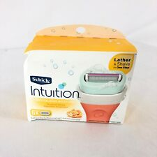 Schick Intuition Razor Blades 6 Pack Revitalizing Moisture Tropical Citrus
