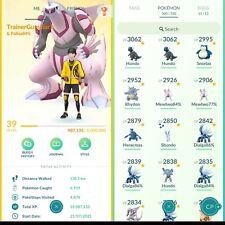 Pokémon Go Account Level 39,96 💯IV,37 Legendary,72 Shiny Espeon,OSHA,Eevee,MORE