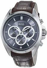 Hugo boss Men's 1513035 'Driver' Chronograph Brown Leather Watch
