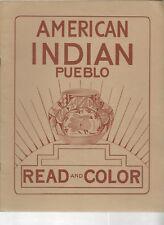 American Indian Read and Color Book,  Pueblo  1948 Bischoff illus