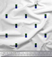 Soimoi Stoff geometrisches Quadrat & Jamdani Dekorstoff 1 Meter bedruckt - JM-4E