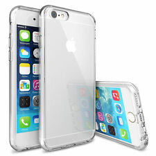 Apple iPhone X 8 7 6 5 Clear Gel Case Cover and Tempered Glass Screen Protector