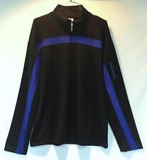Descente Mens Coach Dura Long Sleeve T-Neck Black Cobalt Blue Extra Large XL NEW