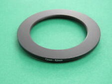 72-52 72mm-52mm Stepping Step Down Male-Female Filter Ring Adapter 72mm-52mm