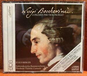 3 CD Boccherini Concerti per Violoncello Berger SWKO Czarnecki EBS 1989 NM