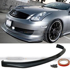 Fit 03-06 G35 2DR Coupe Illusion N1 Style PU Front Bumper Lip Body Kit Add On