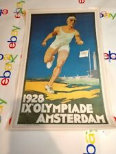 Vintage 1928 Olympic Games Amsterdam Poster Print W/Protective Laminate