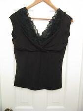 White House Black Market lace top medium stretchy v neck style pretty beach e