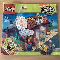 Lego Spongebob INSTRUCTION MANUAL ONLY Krusty Krab 3825